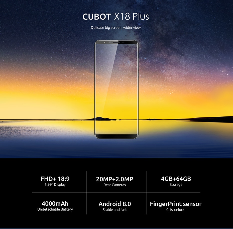 CUBOT X18 cheap chinese smartphone