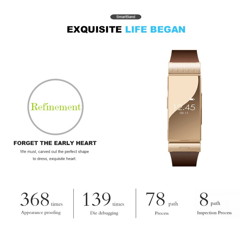 Original Floveme A5 Smart Bracelet Watch + Earphone Heart Rate Monitor Bluetooth Wristwatch For iPhone Samsung Wearable Devices
