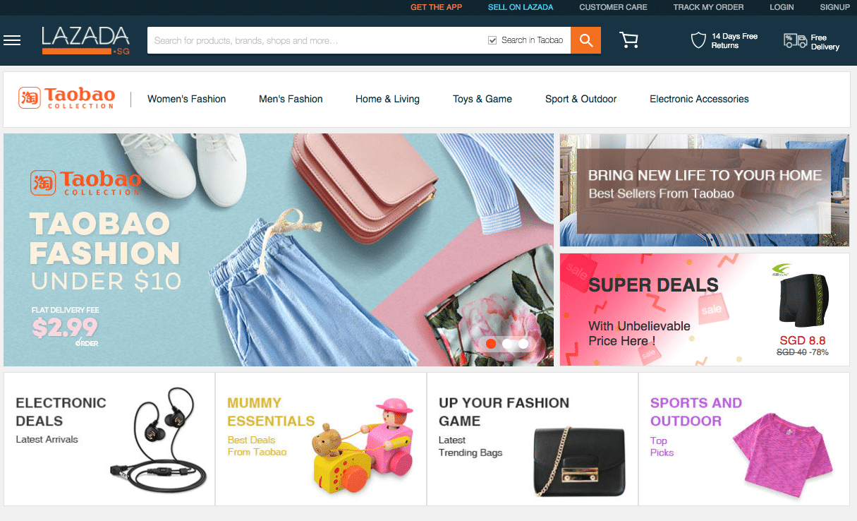 taobao lazada singapore shopping