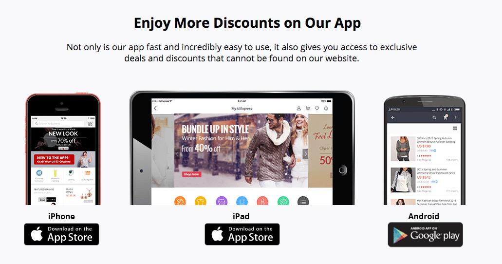 offers on aliexpress app