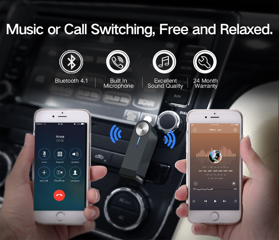 Wireless Bluetooth Receiver 3.5mm Jack Bluetooth Audio Music Receiver Adapter Car Aux Cable Free for Speaker Headphone