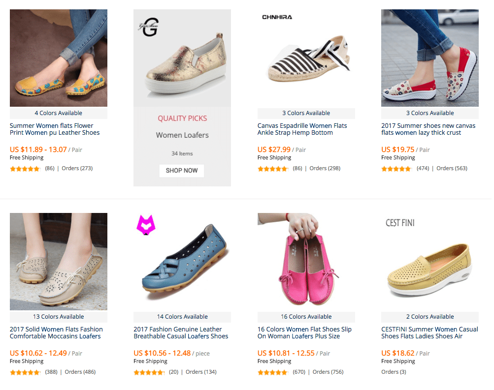 women loafer flat shoes on aliexpres