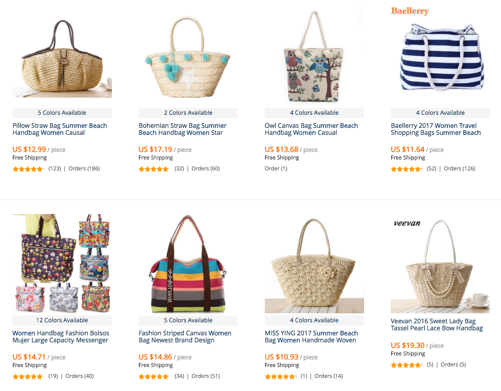 women summer beach straw bags
