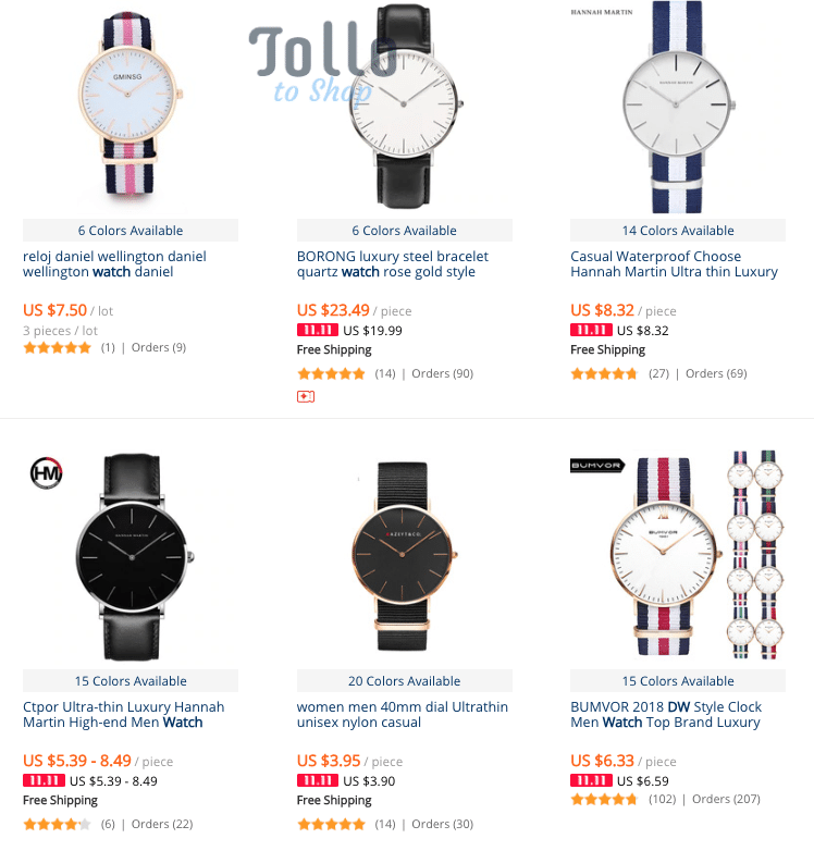 replica daniel wellington watch