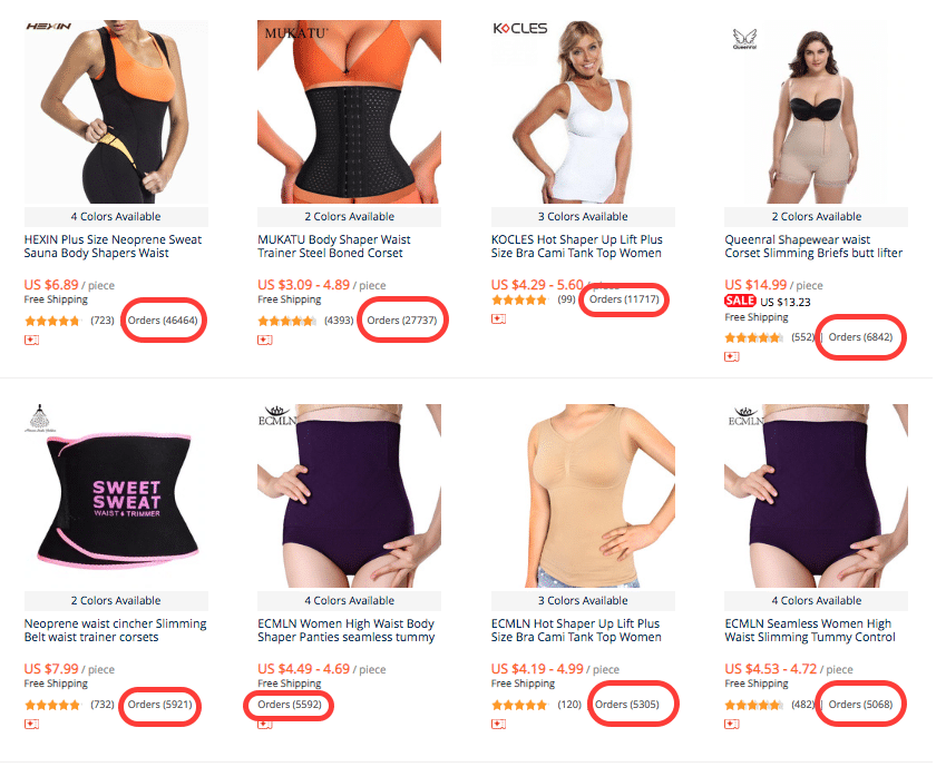 shapewear aliexpress dropship