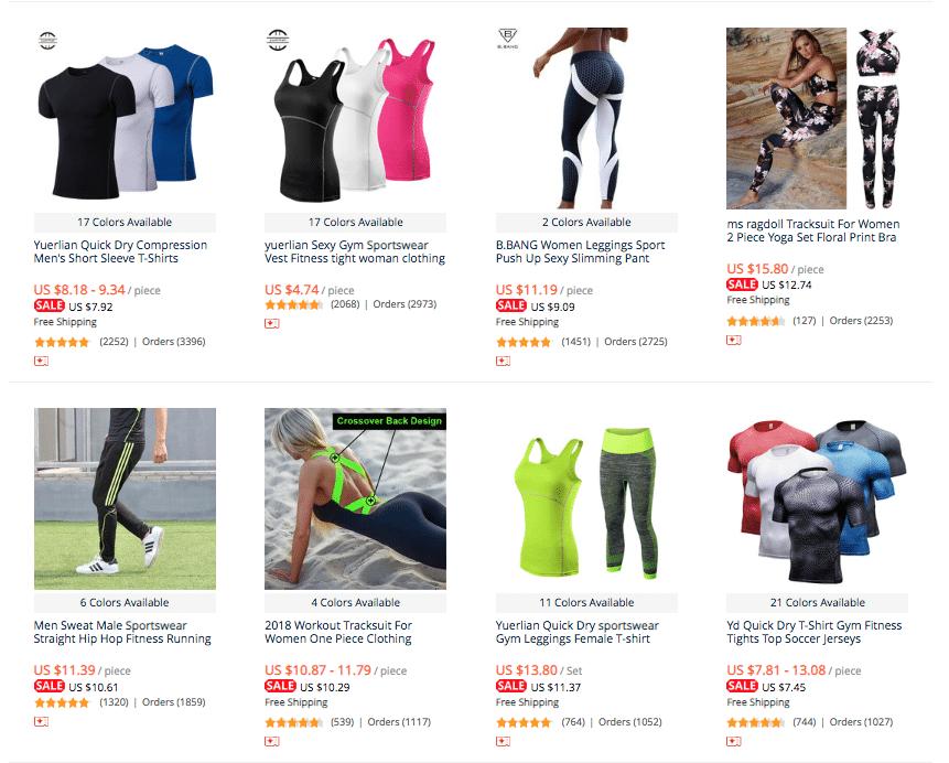 sportswear dropship