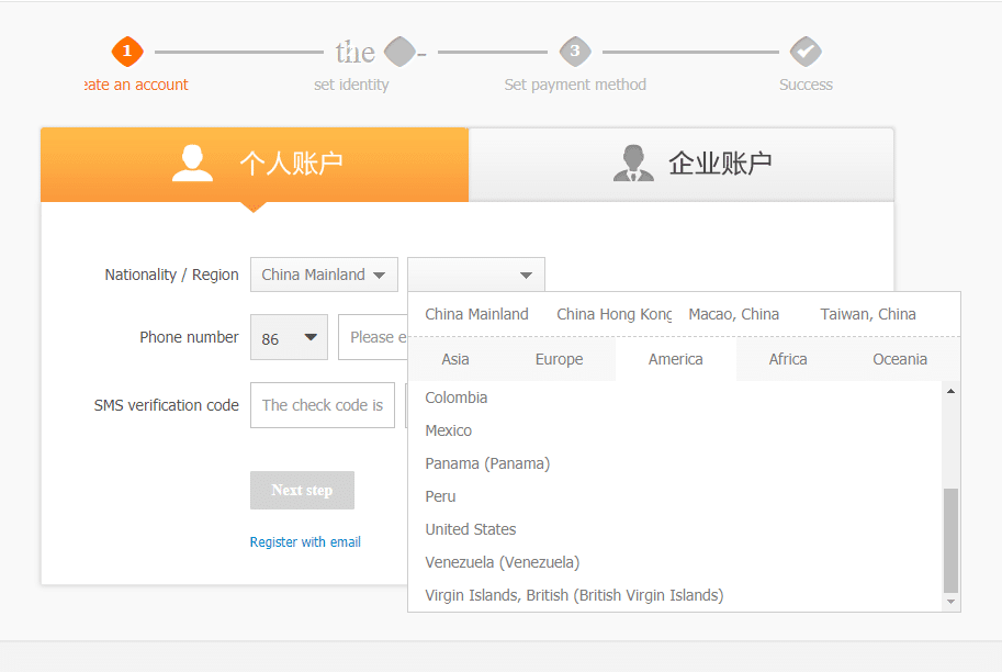 how to use alipay without china bank