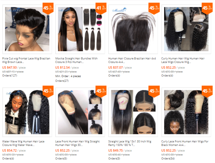 top aliexpress lace wig vendors
